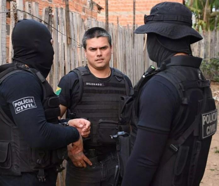 Delegado de Polícia Civil Nilton Boscaro que coordenada o DPCI e a Core falou sobre as prisões desta quinta (Foto: Divulgação/Polícia Civil do Acre)