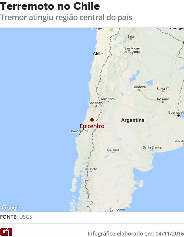 Terremoto no Chile (Foto: G1)