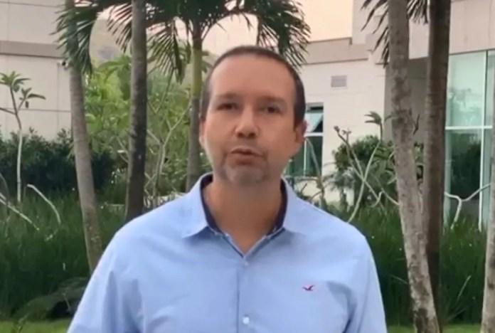 Sergio Sá, candidato a prefeito pelo PSB — Foto: Reprodução/TV Gazeta