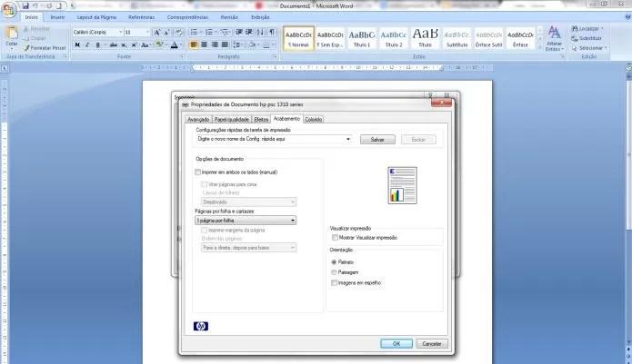 Como imprimir frente e verso no Microsoft Word (Foto: Reprodução/Pedro Zambarda)