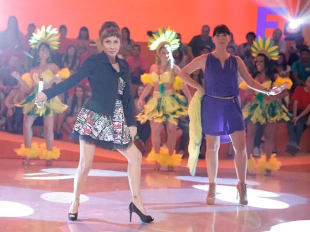 Katiuscia Canoro dá show ao lado de Fabíula Nascimento (Foto: João Pedro Januário / Rede Globo)