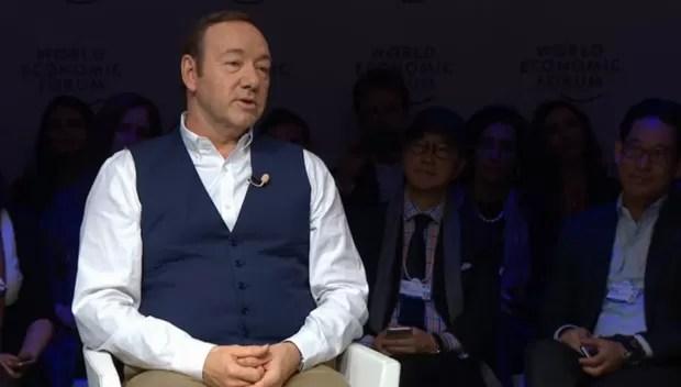 Kevin Spacey durante o Fórum Econômico Mundial de 2015, em Davos (Foto: Reprodução WEF)