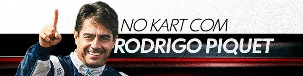 No Kart com Rodrigo Piquet — Foto: Editoria de Arte