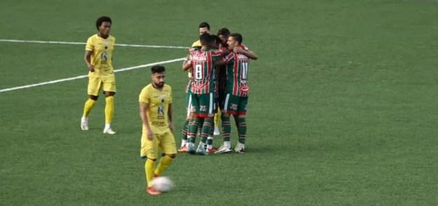 Dakson marcou o gol de empate do CSE — Foto: Reprodução/FAFTV