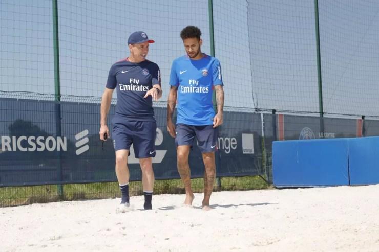 Neymar no treino do PSG (Foto: Divulgação / PSG)