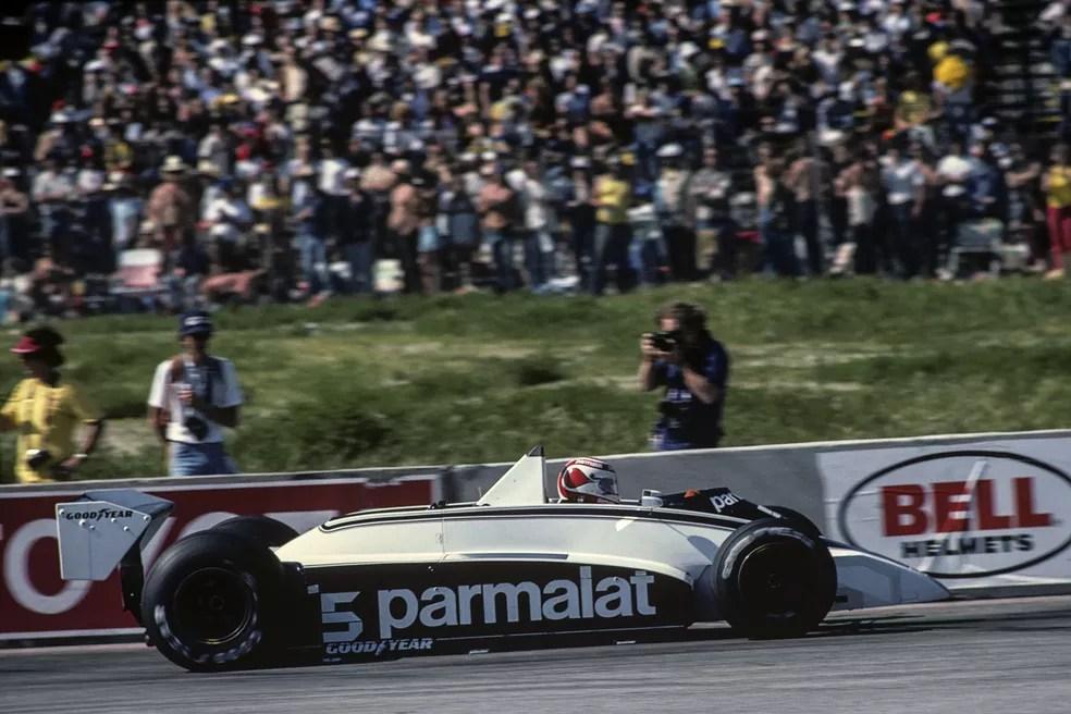 Nelson Piquet durante o GP dos EUA-Oeste de 1980 — Foto: Getty Images