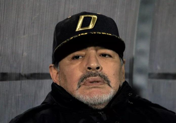 Diego Maradona em novembro de 2018 — Foto: Reprodução/Reuters