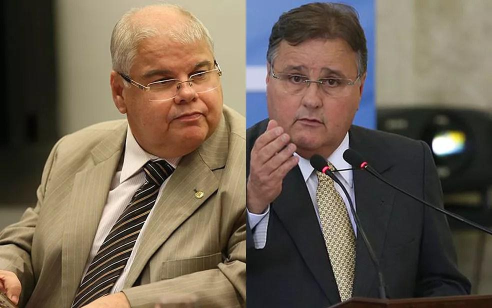 O deputado Lúcio Vieira Lima (esq.) e o irmão, o ex-ministro Geddel Vieira Lima (dir.) (Foto: Fabio Rodrigues Pozzebom e Valter Campanato/Agência Brasil)