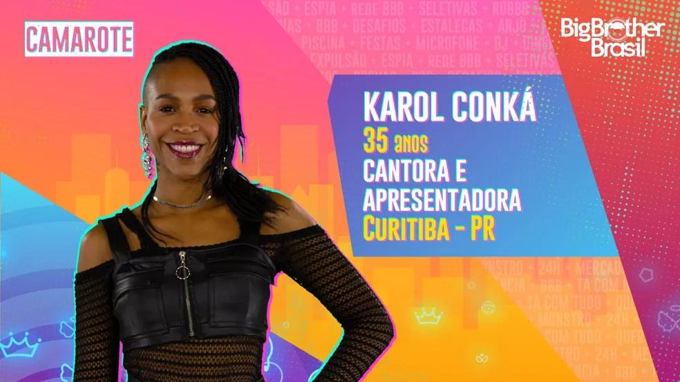 Karol Conka, BBB21 — Foto: Globo