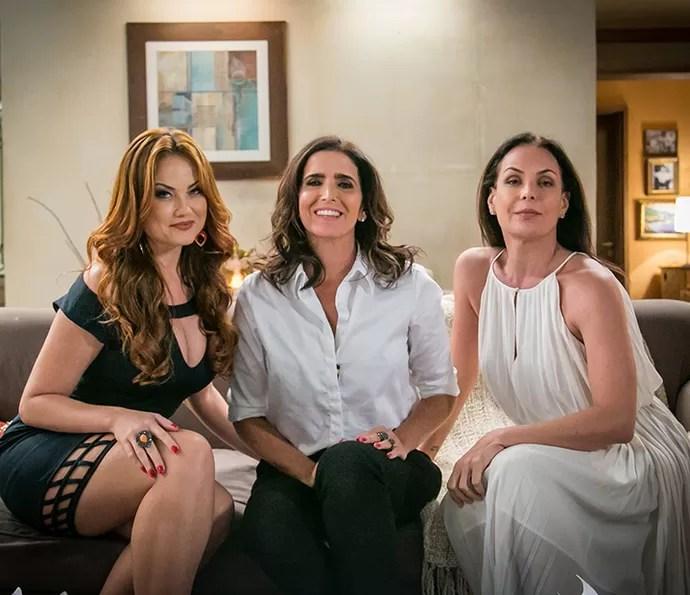 Leonora, Rebeca e Penélope são unir propostas de estilos: exuberante, elegante e romântica (Foto: Paulo Belote/Globo)