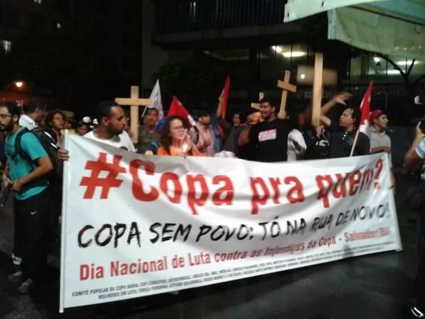 Protesto Copa Mai 2;bahia (Foto: Maiana Belo)