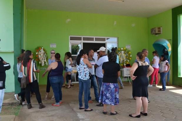 Velório acontece na Câmara de Vereadores de Vilhena (Foto: Eliete Marques/G1)