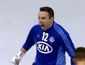 goleiro Eduardo, Palmeiras, Futsal (Foto: Reprodução SporTV)