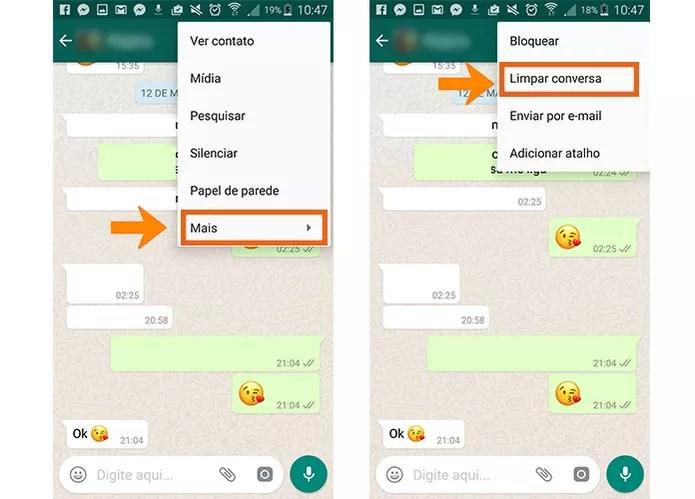 Abra a mensagem no WhatsApp (Foto: Reprodução/Barbara Mannara)