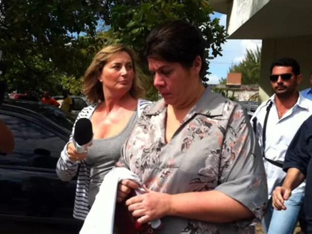 Condenada a 10 anos de prisão, Carla foi detida nesta terça em Natal (Foto: Fernanda Zauli/G1)