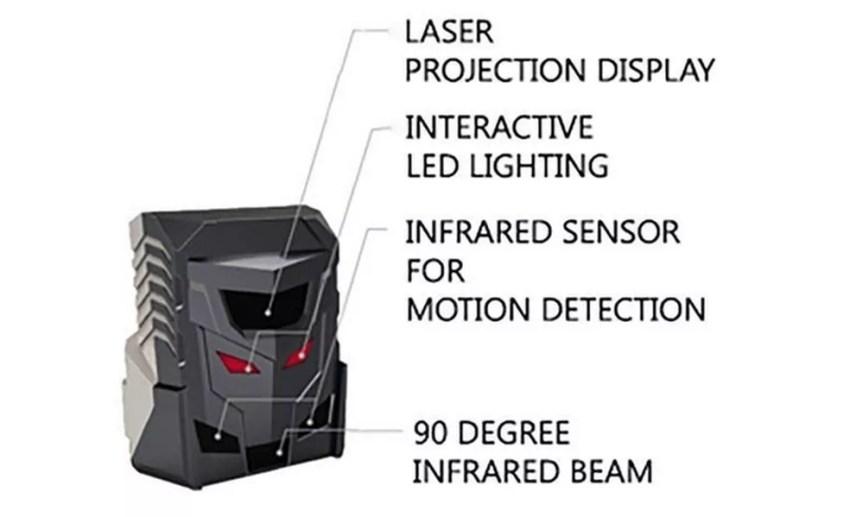 Projetor a laser e sensores infravermelho do mouse virtual ODiN (Foto: Divulgação/Serafim)