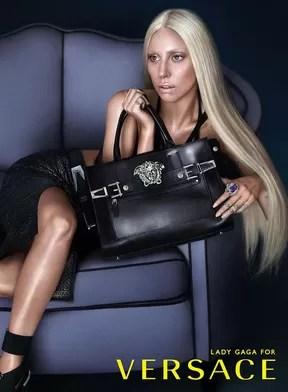Lady Gaga na campanha da Versace (Foto: Divulgação)