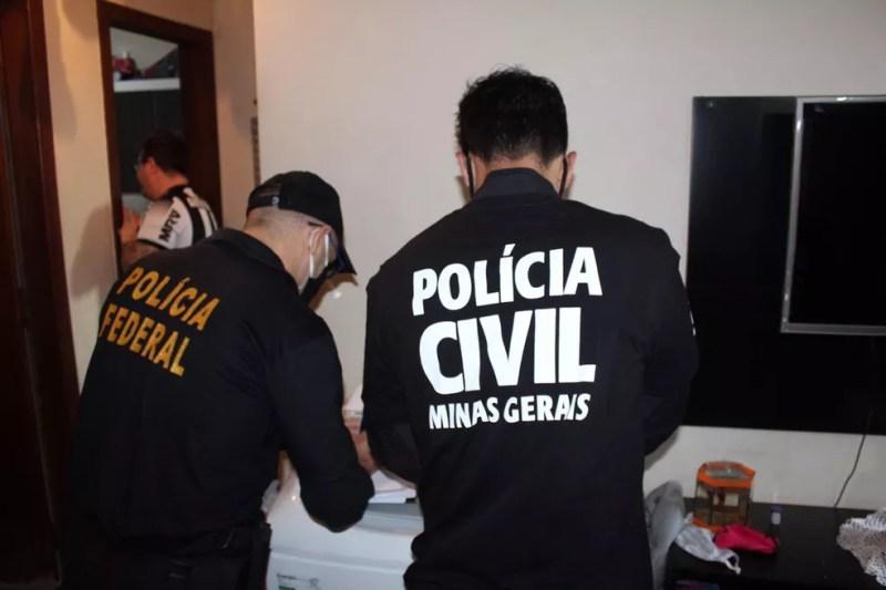 Operação 'Caixa Forte', em Belo Horizonte — Foto: Polícia Civil de Minas Gerais/Divulgação