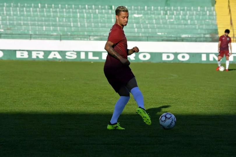 Rafael Silva não tem nenhum gol com a camisa do Guarani em oito jogos  (Foto: Gabriel Ferrari / Guarani Press)