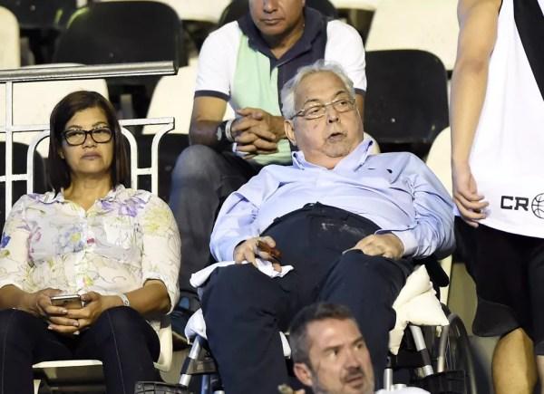 Eurico em uma de suas últimas visitas a São Januário em jogo do Vasco — Foto: André Durão / GloboEsporte.com