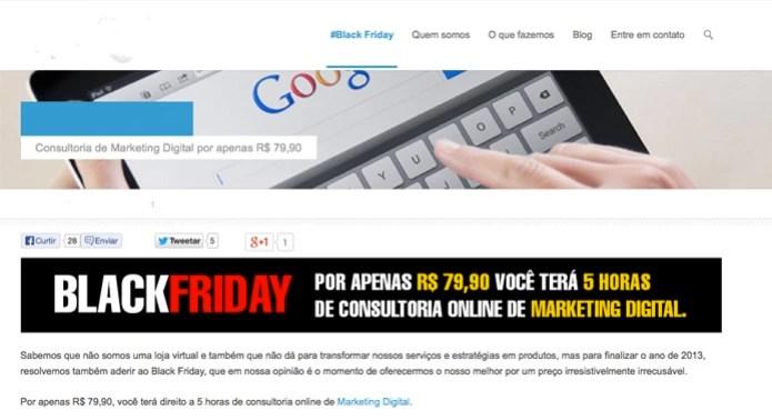 Agência de marketing digital oferece cinco horas de serviços na Black Friday (Foto: Reprodução/TechTudo)