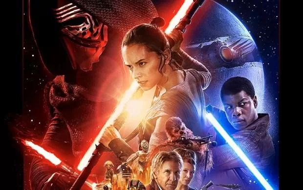 Observe aquela esfera do lado direito do pôster oficial do novo'Star Wars': seria uma nova versão da Estrela da Morte? (Foto: Reprodução/YouTube/Star Wars)