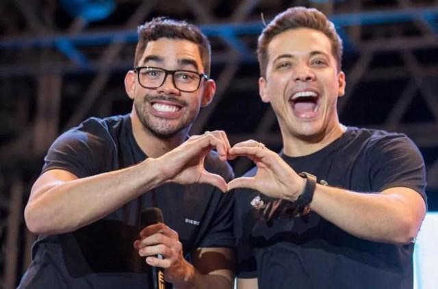 """Gabriel Diniz e Wesley Safadão gravaram juntos sucessos como """"Acabou, Acabou"""" e """"Quem Chorava Hoje Rir"""" — Foto: Reprodução/Instagram/Wesley Safadão"""
