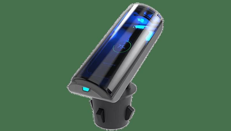 Higienizador e carregador de smartphones para ser usado dentro do carro — Foto: Divulgação