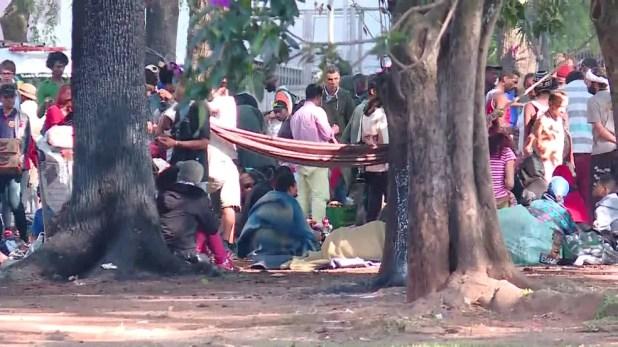 Usuários de drogas voltaram para a Praça Princesa Isabel (Foto: GloboNews/Reprodução)
