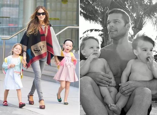 Sarah Jessica Parker e Ricky Martin: ambos utilizaram a barriga de aluguel para ter filhos (Foto: The Grosby Group/ Getty Images)