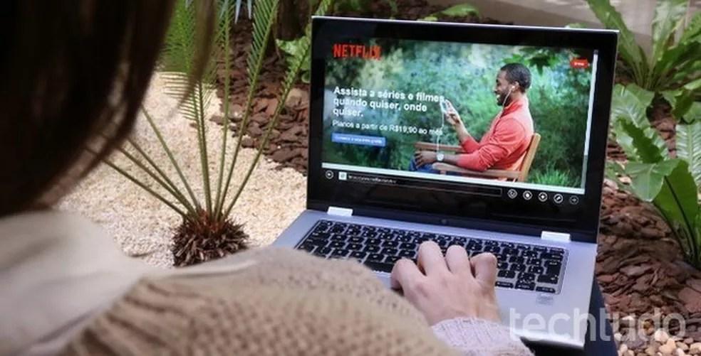 Criminosos roubam contas Netflix para conseguir assinaturas de planos premium de forma ilegal — Foto: Raissa Delphim/TechTudo