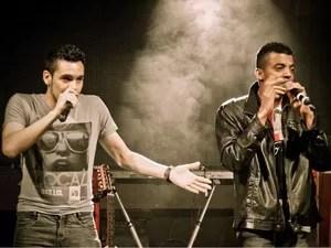 A dupla Andrey e Santiago se apresenta no encerramento do evento (Foto: Divulgação/Prefeitura de Registro)