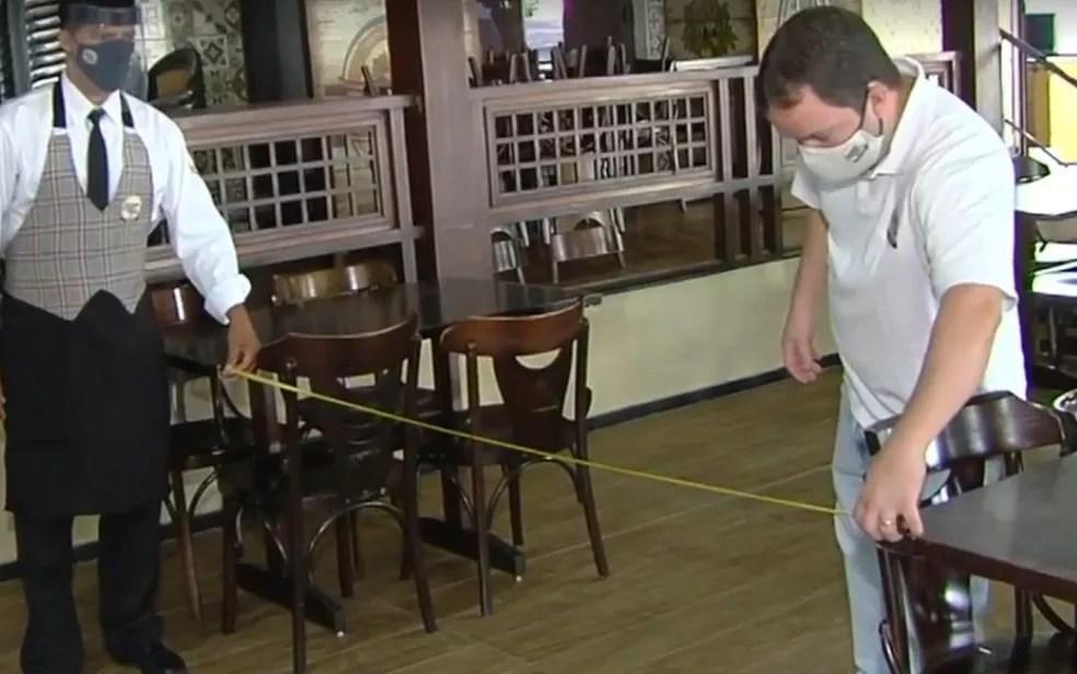 Bares e restaurantes se preparam em Goiânia — Foto: Reprodução/TV Anhanguera
