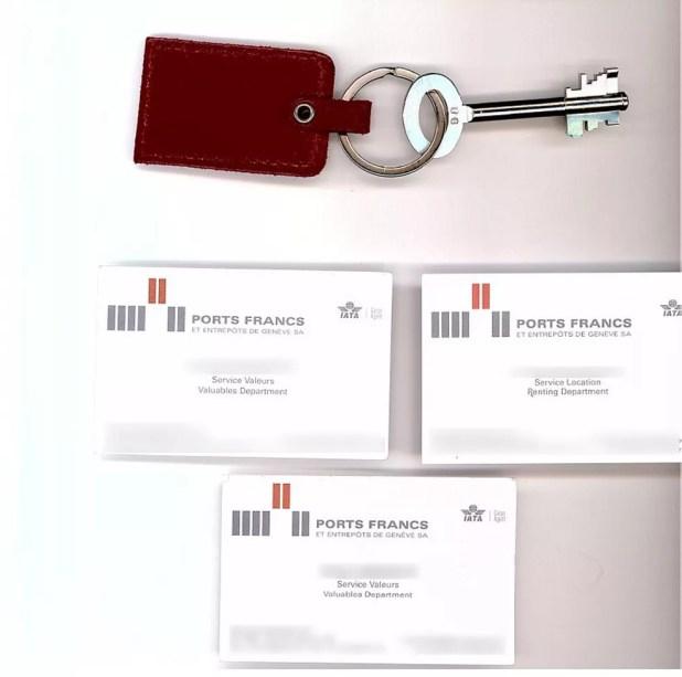 Chave e cartões de agentes de serviço de locação apreendidos com Nuzman (Foto: Reprodução)