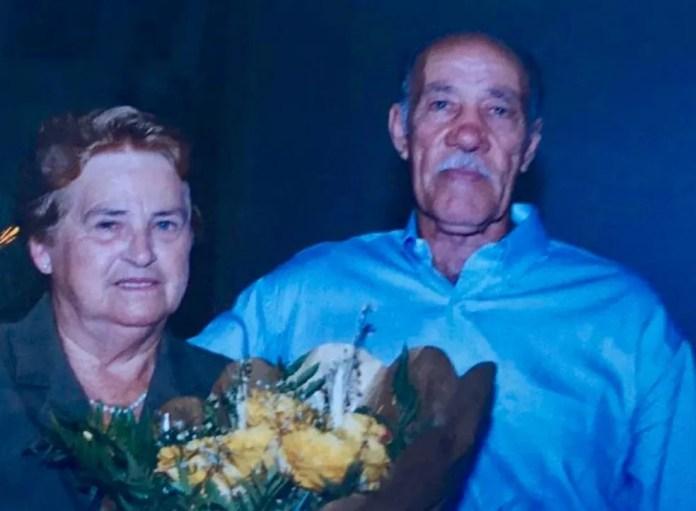 Inês e Aldo completaram 68 anos casados — Foto: Ademir de Prá/ Arquivo pessoal