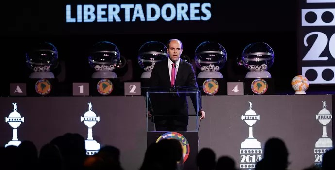 Sorteio Conmebol Libertadores 2015 (Foto: AP)