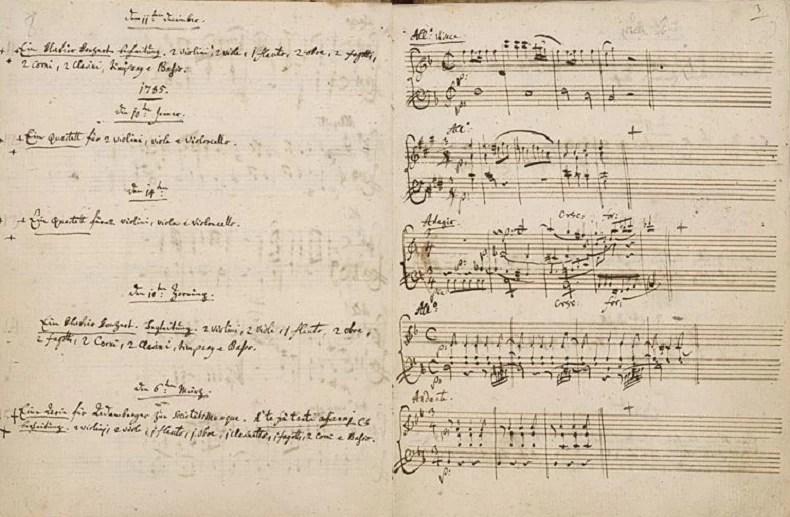 As composições de Mozart nos seus últimos anos de vida (Foto: biblioteca britânica)
