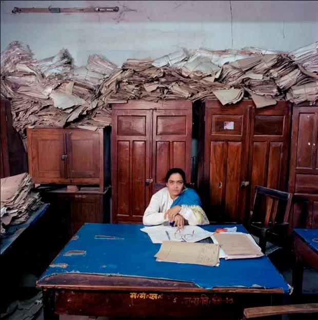 Escritório na Índia (Foto: Jan Banning/Divulgação)