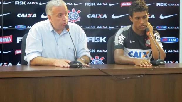Paulinho e Roberto de Andrade Corinthians (Foto: Diego Ribeiro)