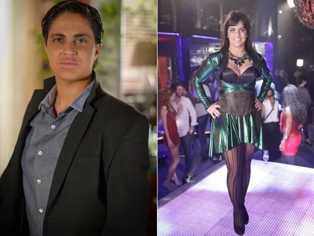 Thammy antes e depois (Foto: Salve Jorge/TV Globo)