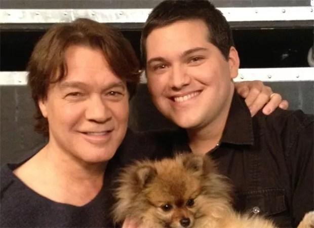 Eddie Van Halen com o filho (Foto: Reprodução/ Instagram)