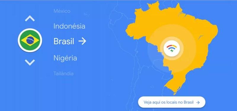 Google fornece mapa dos pontos com Wi-Fi grátis — Foto: Divulgação/Google