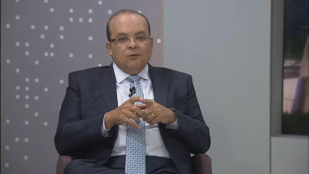 Ibaneis Rocha em entrevista na TV Globo — Foto: TV Globo/Reprodução
