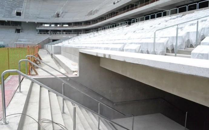 Entrada dos vestiários do novo estádio do Atlético-PR (Foto: Divulgação/Site Oficial do Atlético-PR)