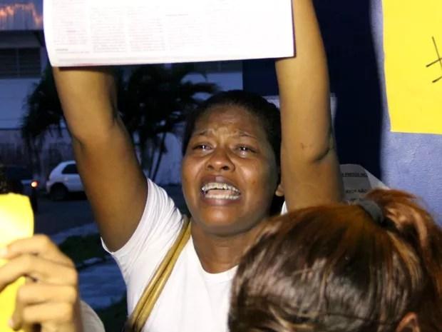 Nonata Kelly Santos pediu justiça pela morte do filho de 16 anos (Foto: Rickardo Marques/G1 AM)
