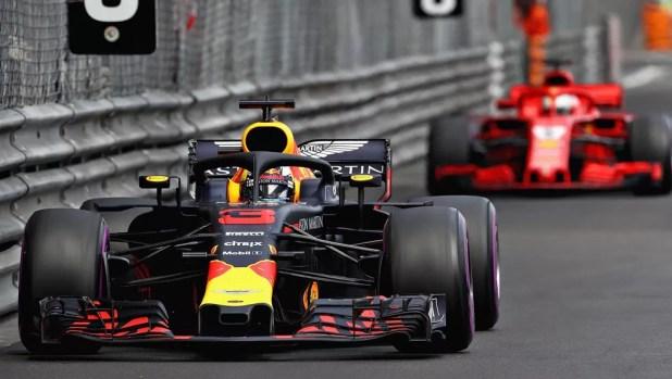 Ricciardo segurou Vettel na maior parte da corrida em Mônaco (Foto: Divulgação)