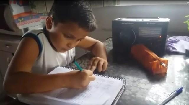 Gabriel Silva, estudante em Serra Negra do Norte — Foto: Cedida