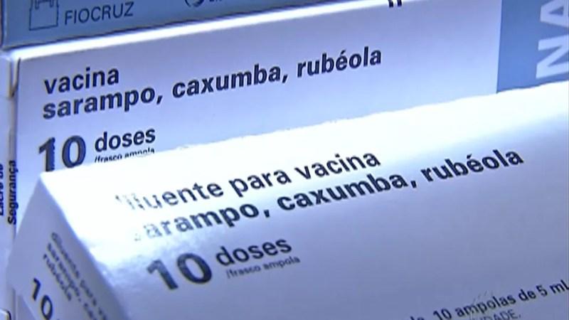 Vacina tríplice viral protege contra o sarampo , caxumba e rubéola — Foto: TV Globo/ Reprodução
