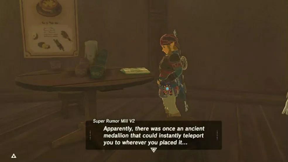 The Legend of Zelda Breath of the Wild: uma nova missão introduz o item de teleporte (Foto: Reprodução / Thomas Schulze)