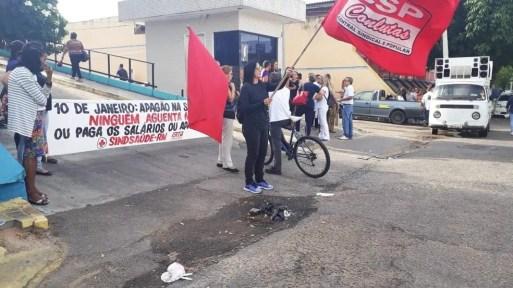 Apenas casos de emergência estão sendo atendidos no Hospital Walfredo Gurgel, em Natal — Foto: Marksuel Figueredo/Inter TV Cabugi